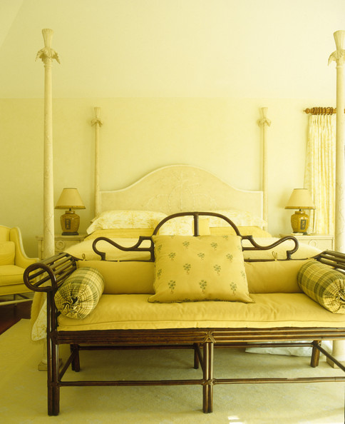 Decorative framed sofa at foot of bed photos design for Foot of bed furniture