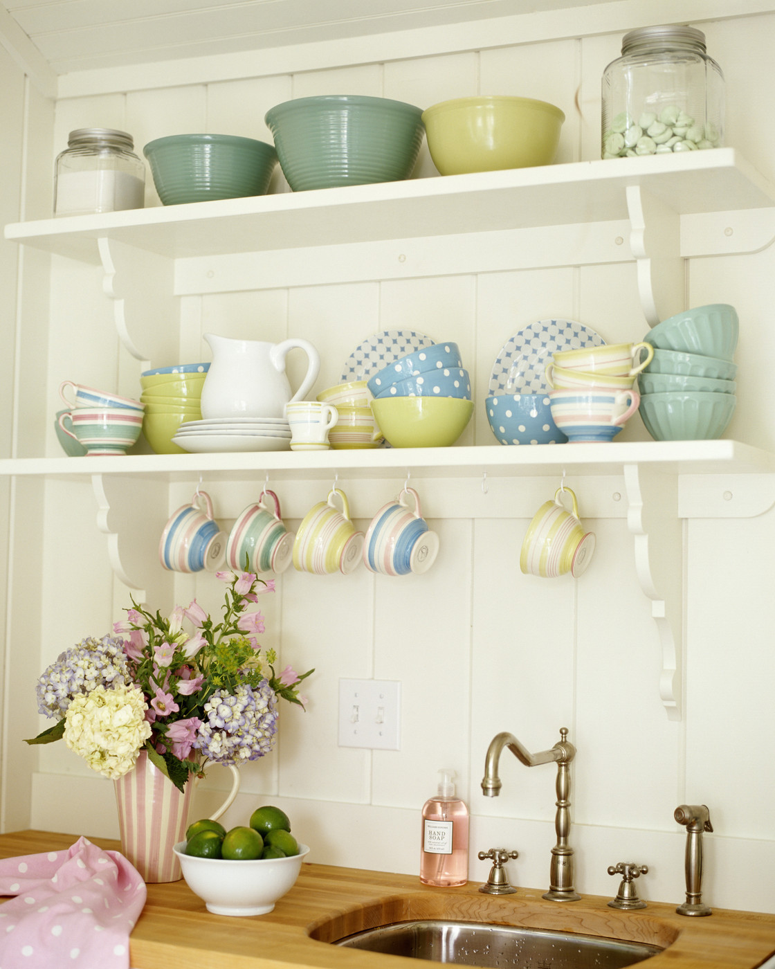 Open Shelving In The Kitchen: Beadboard Backsplash Photos, Design, Ideas, Remodel, And