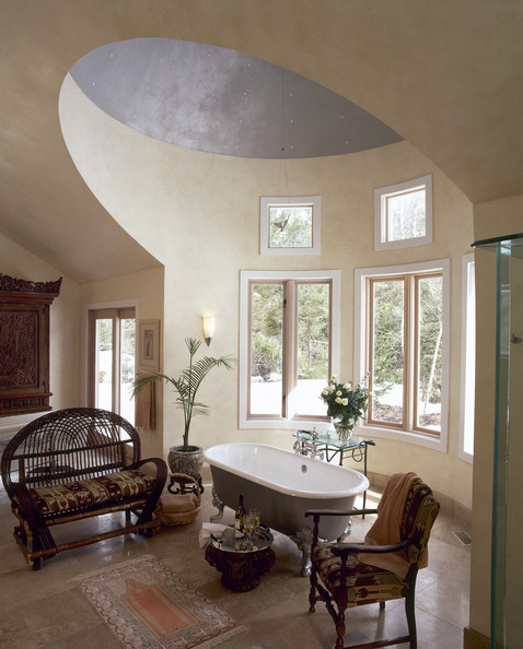 High vaulted ceiling photos design ideas remodel and for High ceiling bathroom ideas