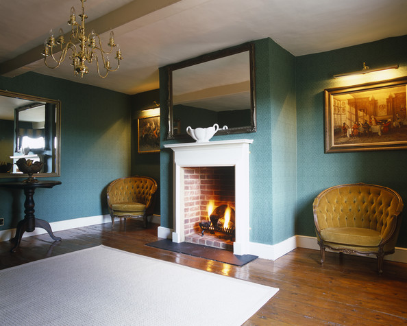 Blue Traditional Living Room