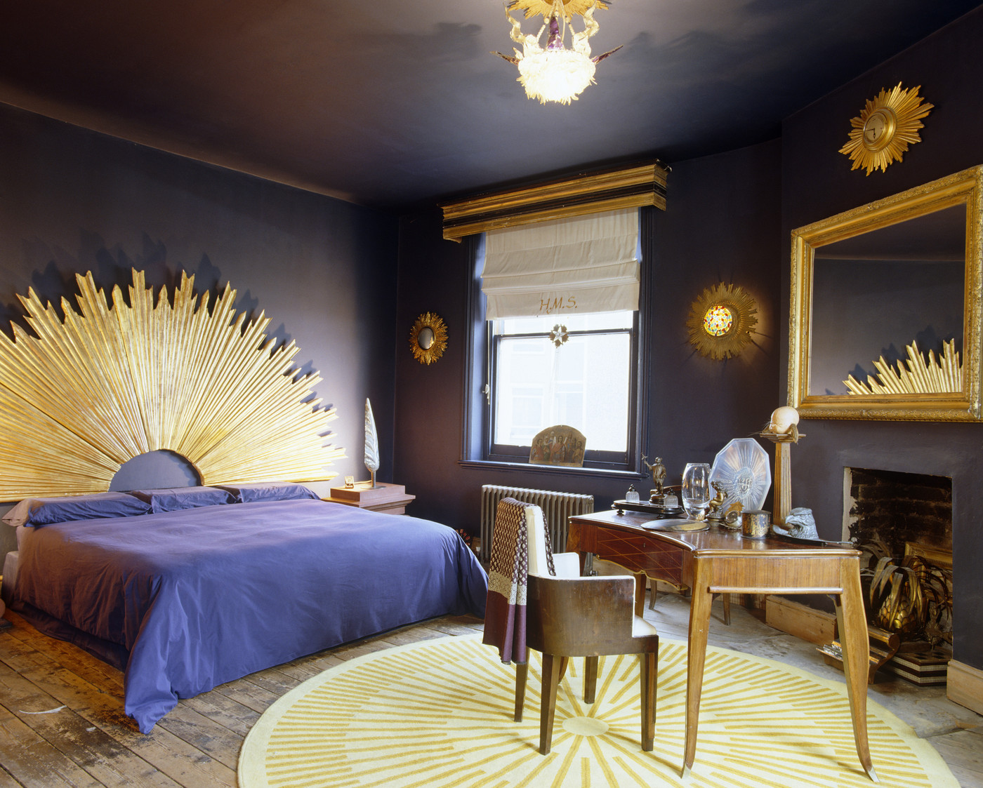 Lap of luxury channel mardi gras with these festive Purple and gold bedrooms
