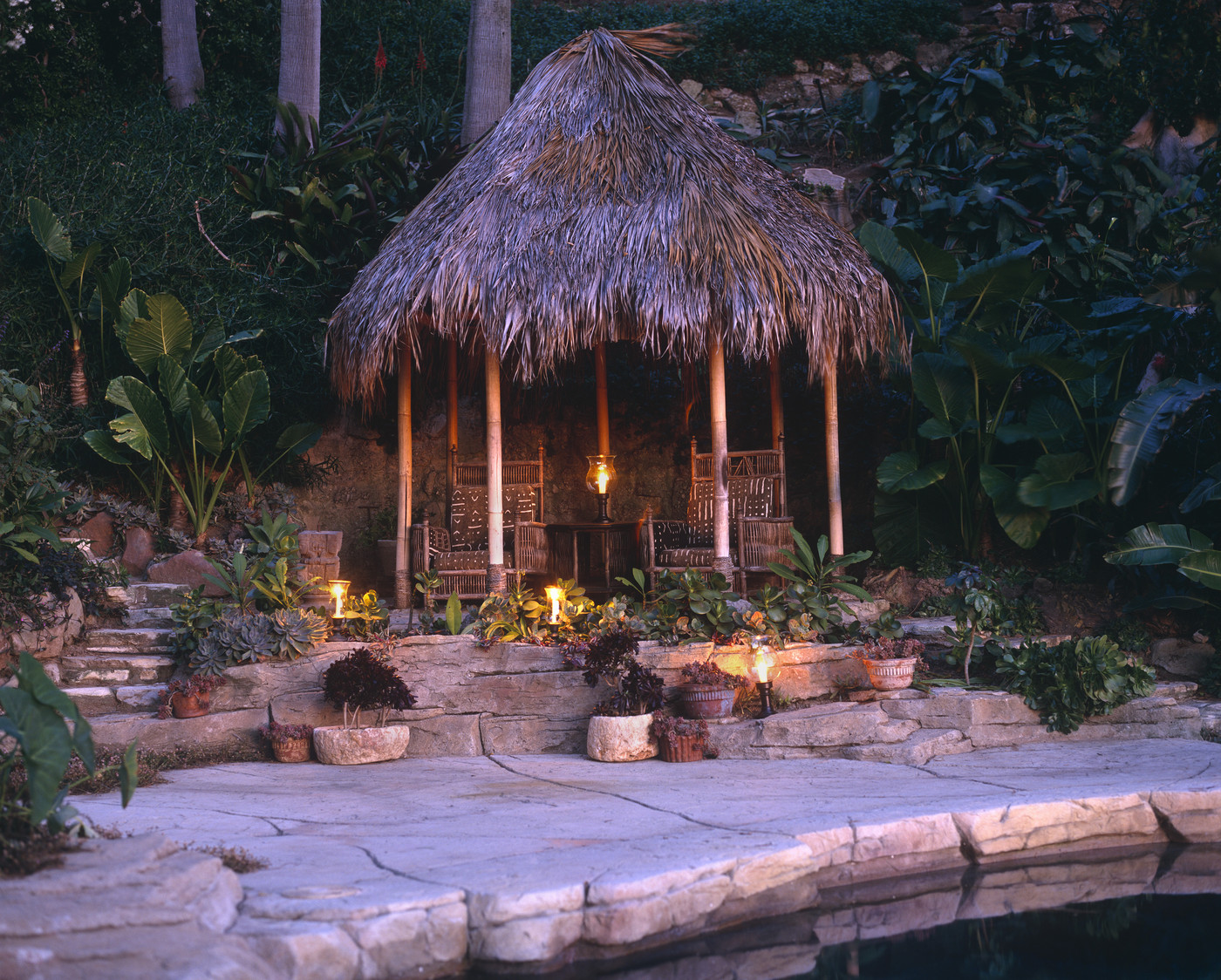 Tropical Patio - Outdoor Patio Design Ideas - Lonny on Tropical Patio Ideas id=91274