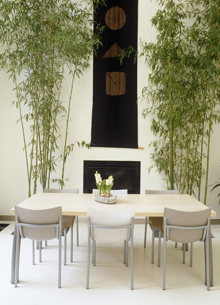 White asian dining room dining room decorating ideas lonny for Japanese dining room decorating ideas