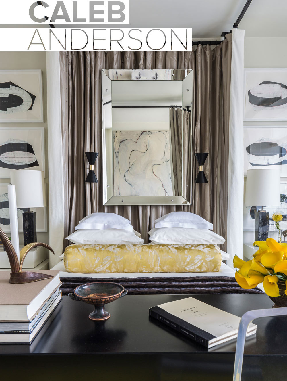 the caleb andersondesigned bedroom at the 2014 holiday house nyc portrait inset - Names Of Interior Designers