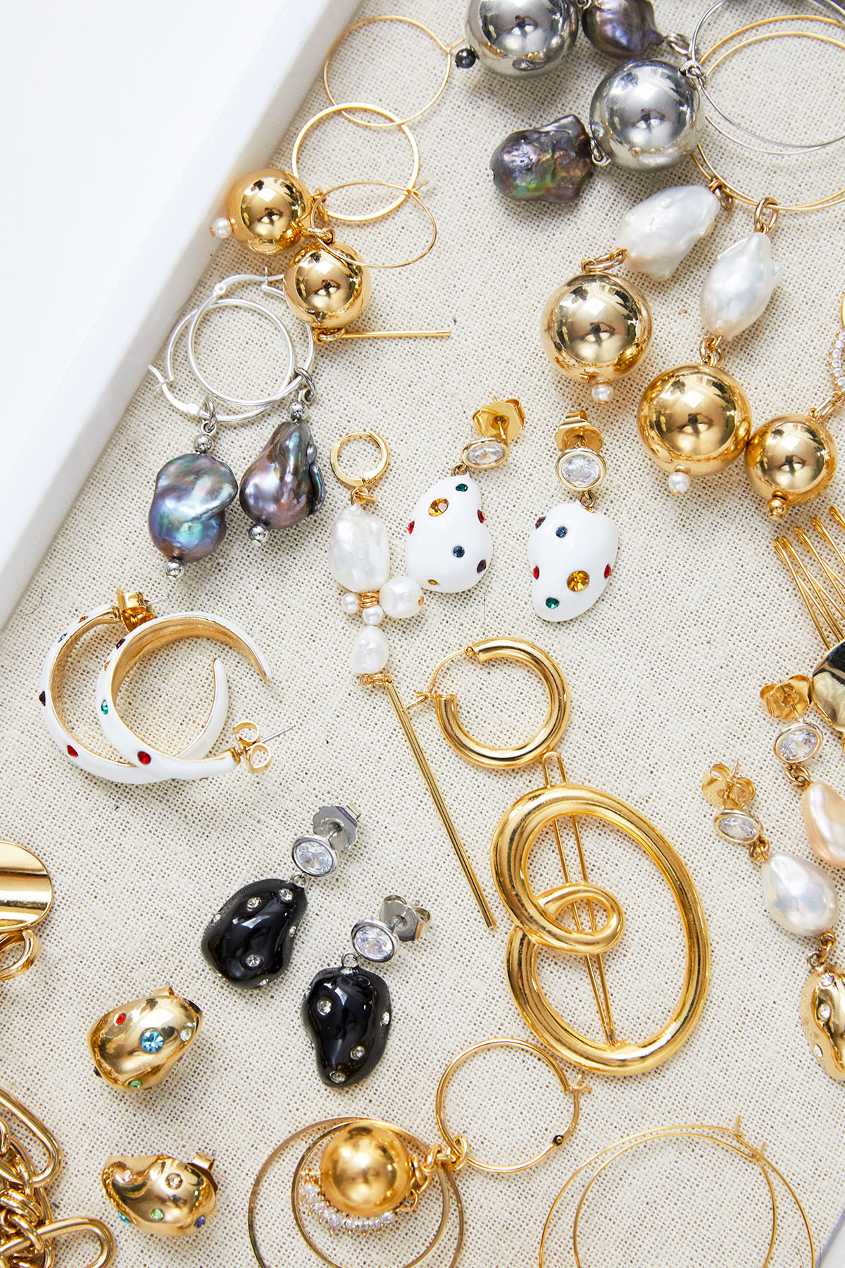 A treasure trove of unique Mounser pieces decorate the designer's jewelry box.