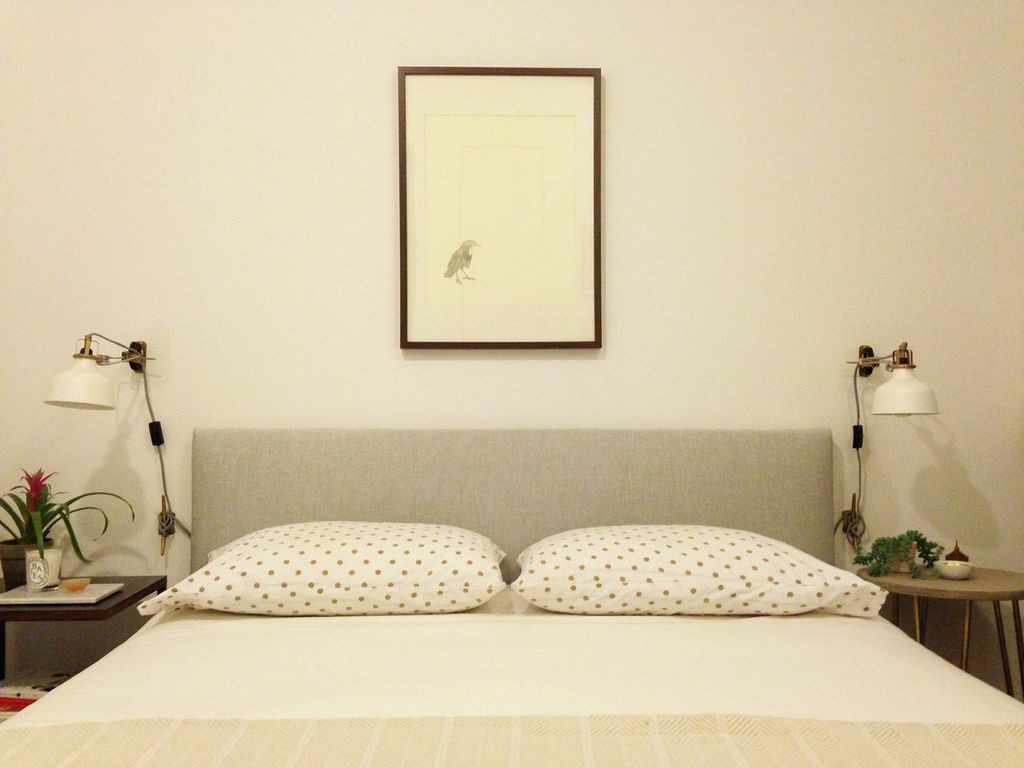 Ikea hack diy upholstered headboard lonny Brimnes headboard hack