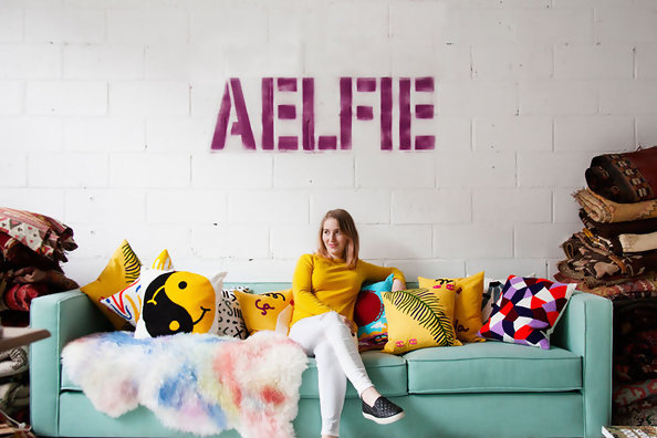Inside Aelfie's Color-Soaked Studio