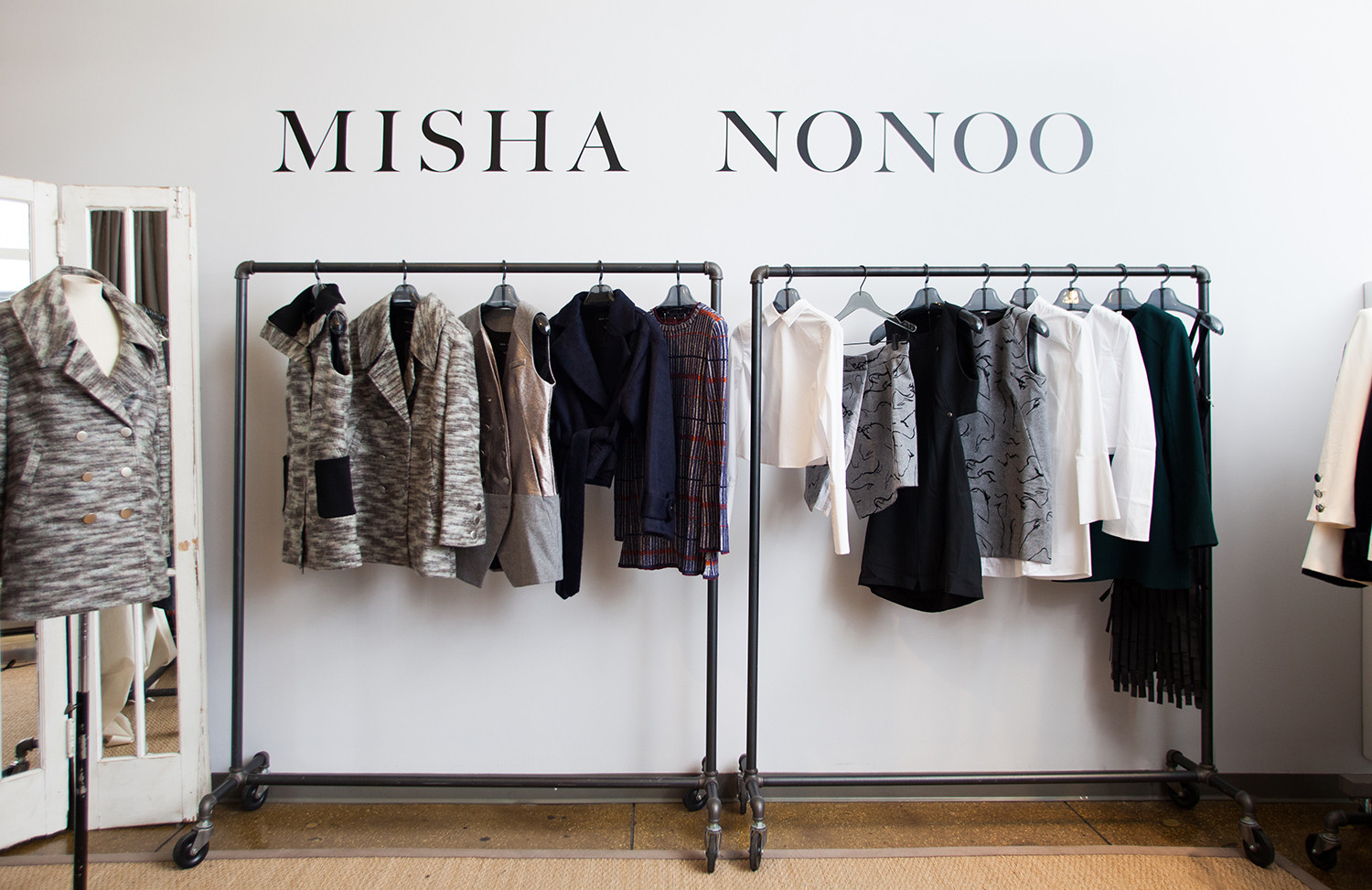 Fashion designer Misha Nonoo's New York City studio in the Council of Fashion Designers of America's collaborative incubator.