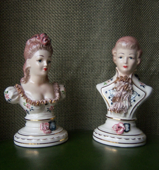 18th Century Style Ceramic Busts