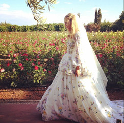 Poppy Delevingne Weds James Cook Wearing Pucci in Morocco