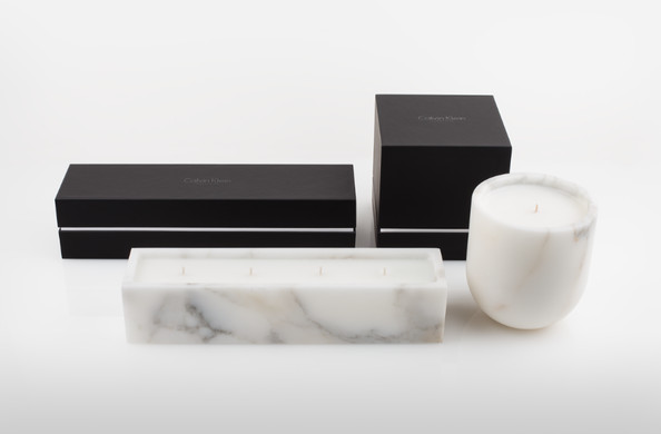 Calvin Klein Dune 4-Wick Marble Candle and Dune Classic Marble Candle by NEST Fragrances
