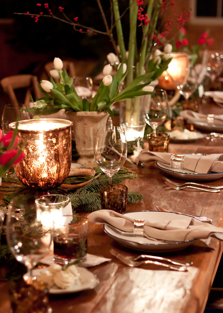 Lonny Editors Do Christmas A Festive Country Dinner Party