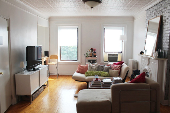 The Living Room Before Apartment Makeover How To