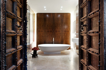 Shower as Showcase: Gaudi-Inspired Tile by David Howell Design