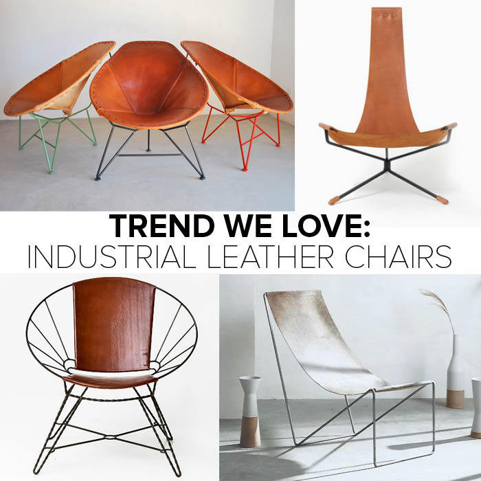 Industrial Leather Chairs Trend   Lonny