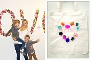 Jessie Randall's DIY Pom-Pom Tote and Mother's Day Party