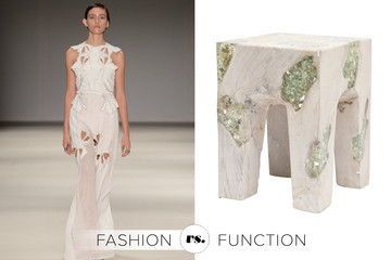 Fashion vs. Function: Alice McCall Cutout Gown vs. Made Goods Cobus Stool