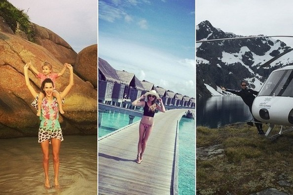 Celeb Holiday Vacations on Instagram