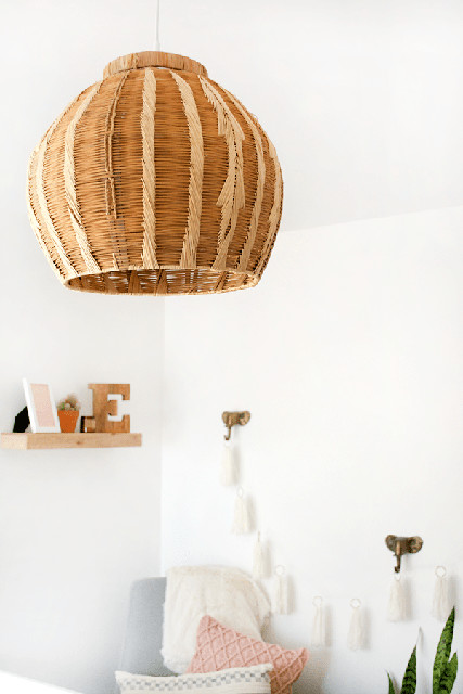 Diy to try woven pendant light do it yourself projects lonny courtesy of bre purposed aloadofball Images