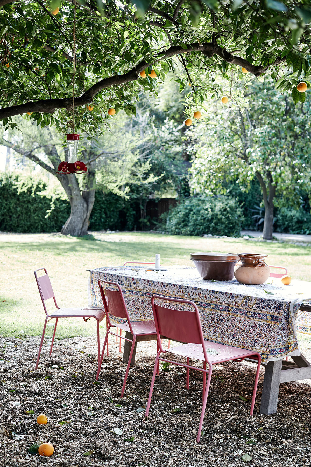 """I've always dreamt of having a garden and growing my own vegetables and having lots of citrus trees,"" says Gran. Design Within Reach Outdoor Table 