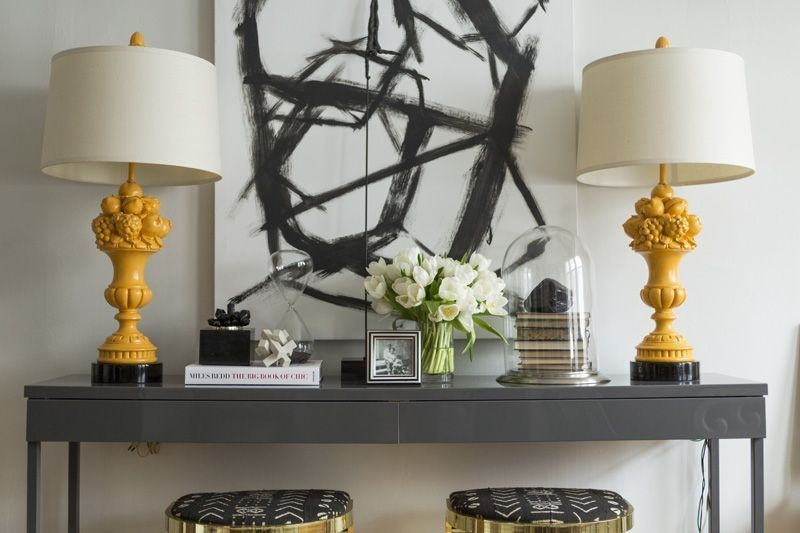Color Palette We Love: Black, White, and Yellow| Lonny.com