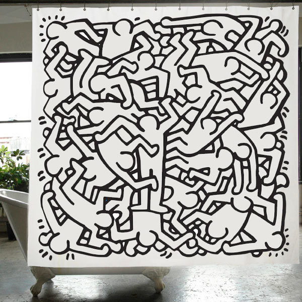 15 Shower Curtains That Make A Splash Keith Haring Approved