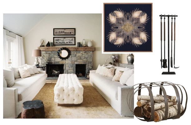 Chic Bohemian Interieur : Build the ultimate boho fireplace scout out lonny