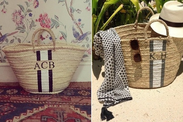 The Find: The Best Monogrammed Straw Tote - The Find - Lonny