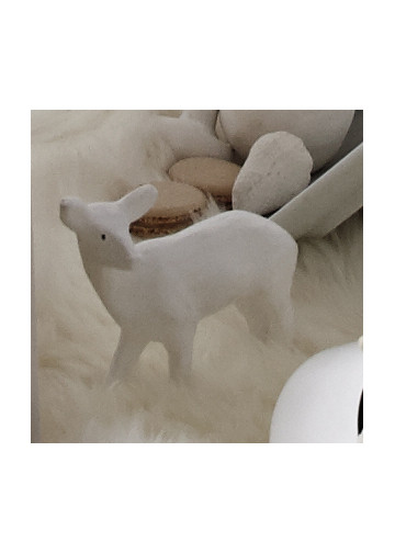 Deer Figure in White by ABC Carpet & Home