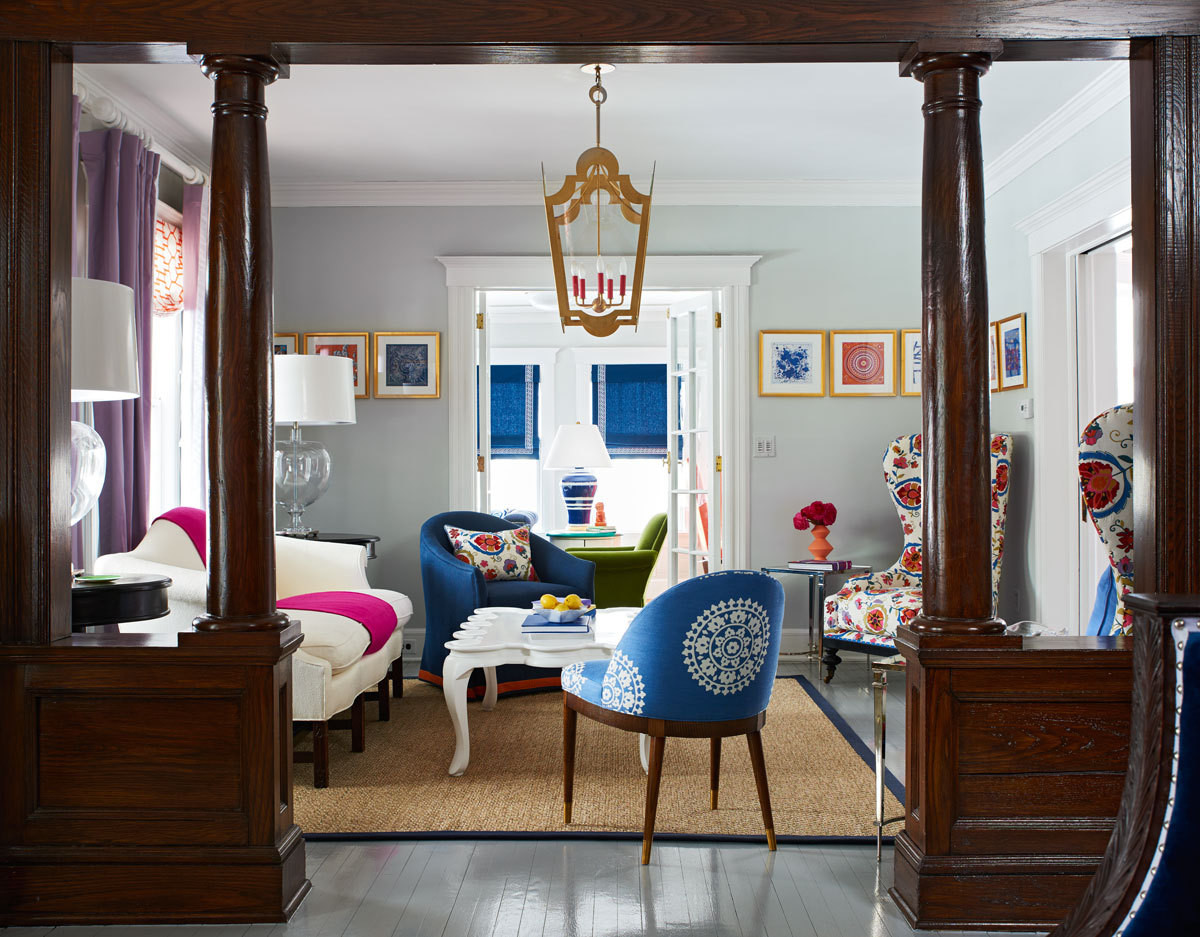BHDM Design transformed a too-formal Victorian into a color-filled home for a family of six.