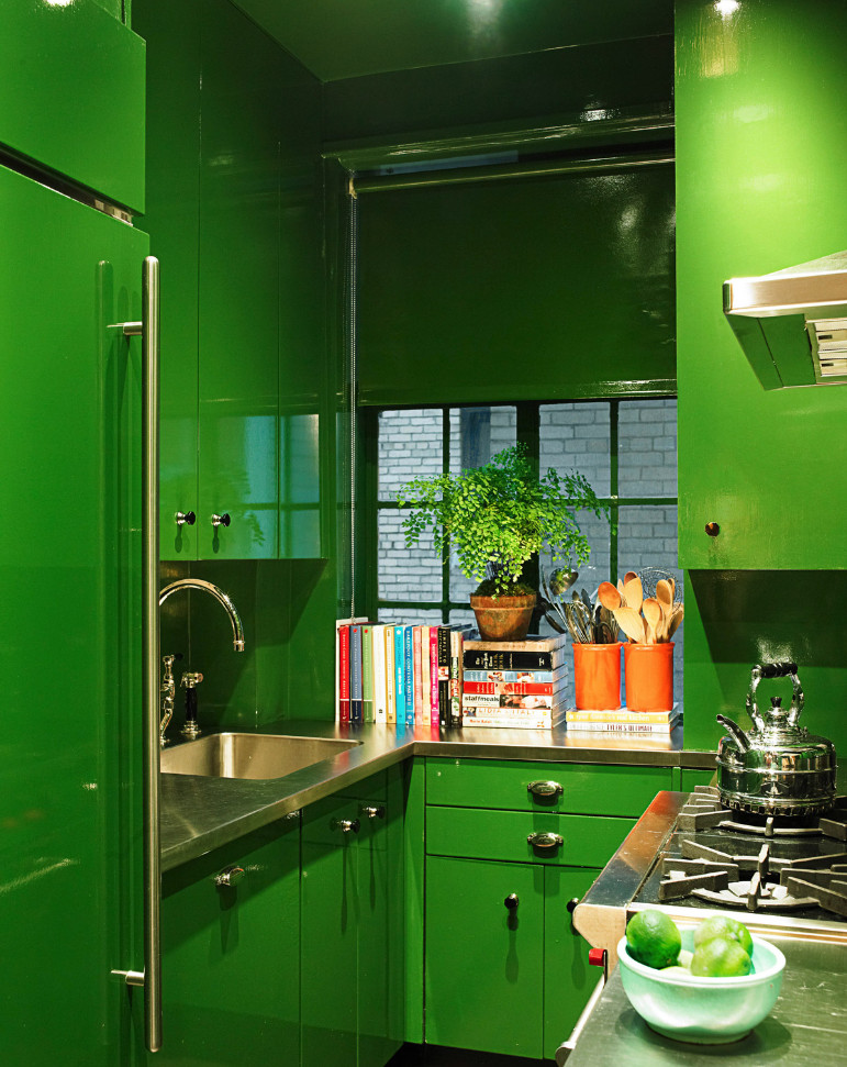 miles redd and green - 25 tiny kitchens that prove small-space