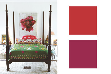 Perfect Designer-Approved Color Combinations: Cherry + Boysenberry