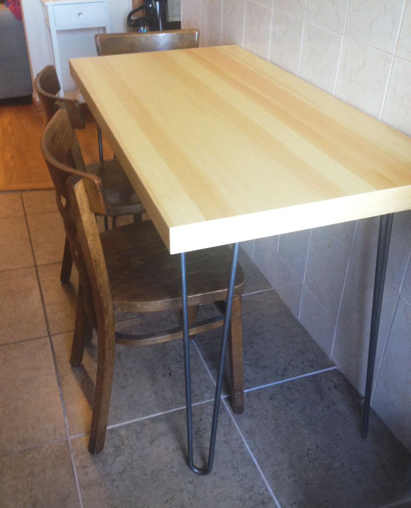 DIY Midcentury Modern Hairpin Leg Table - Lonny