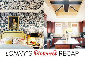 Lonny's Top Pins of the Week: Ceiling Treatments