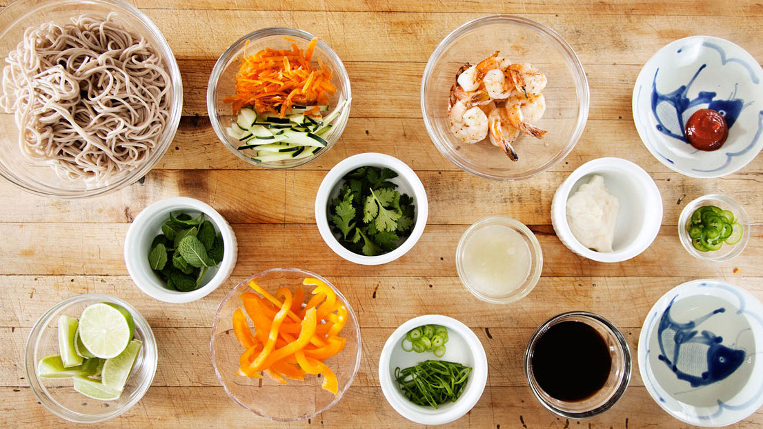 Setting up a streamlined mise-en-place helps organize summer soirees.