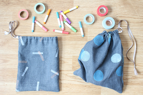 Organize Everything with These DIY Drawstring Bags