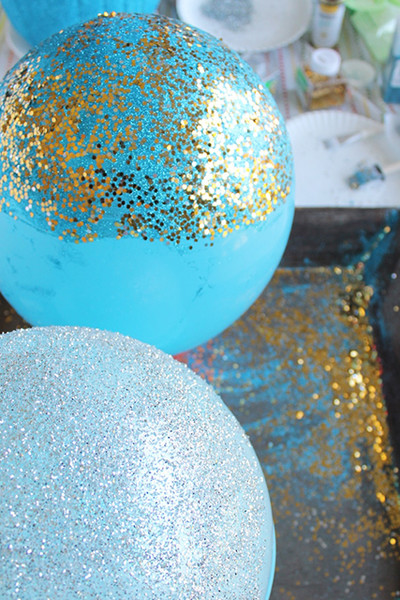 Glitter-Dipped Balloons