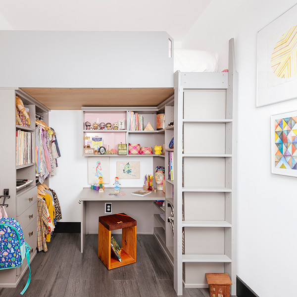 How A Lofted Bed Was Transformed Into The Cutest Small Space Play Room