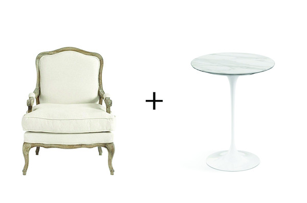 The bergere the tulip table how to mix modern and for Table bergere
