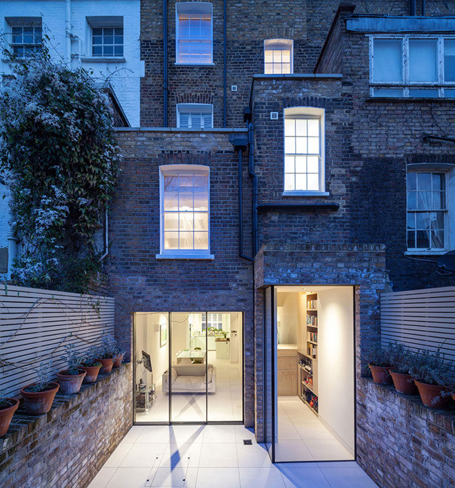 Chelsea townhouse in London by Moxon Architects via Huh Magazine.