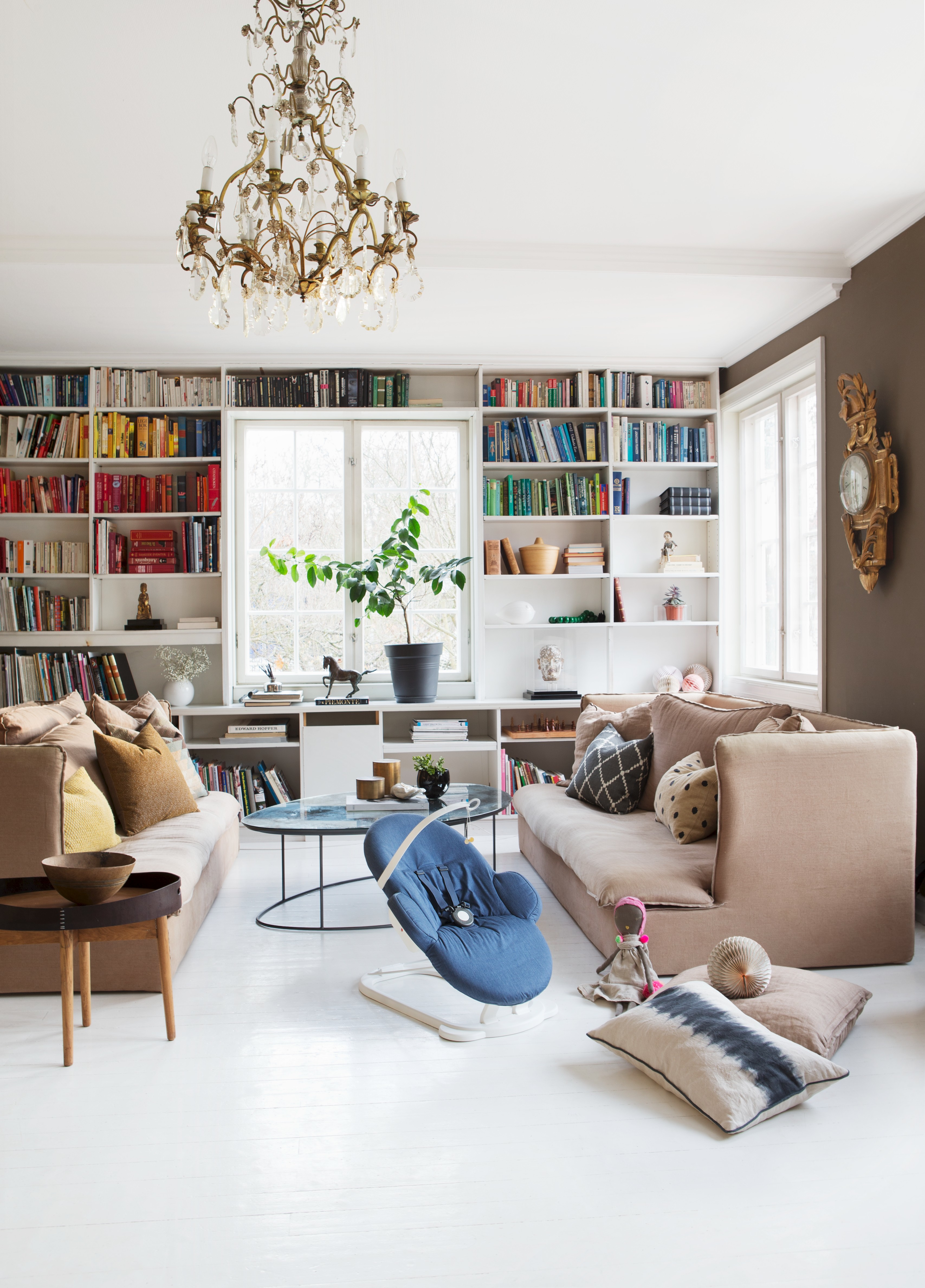 Co colour coordinated bookshelf - The Cocooning Silhouette And Sophisticated Colors Do Justice To Any Adult Interior Note Here Color Coordinated Bookshelves