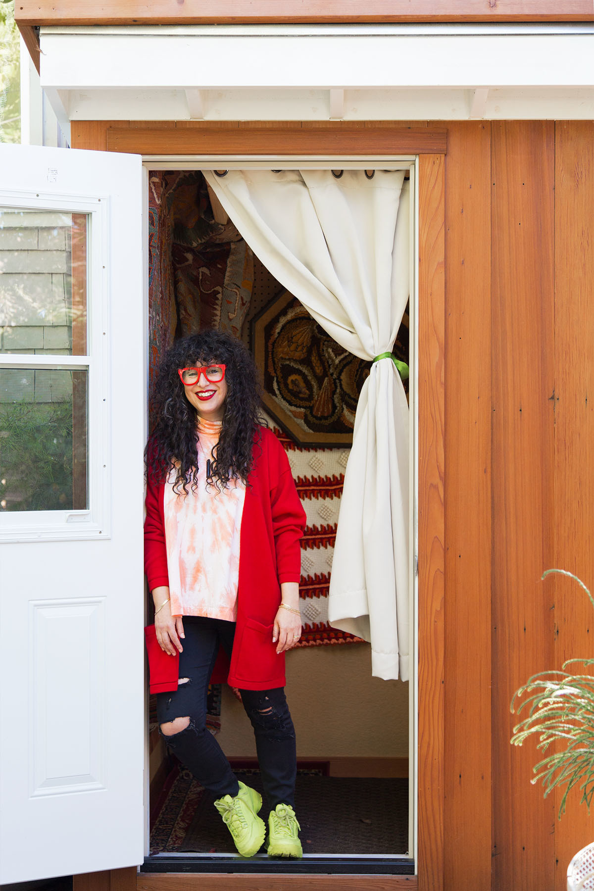 """""""I see my home as an extension of myself, much like the way I dress,"""" says Lanyadoo. """"My home is a place I want to be, a place I feel comfortable and secluded from the world. I'm not a fan of waste or fast furniture, so there's not a whole lot in my house that was bought brand new."""""""