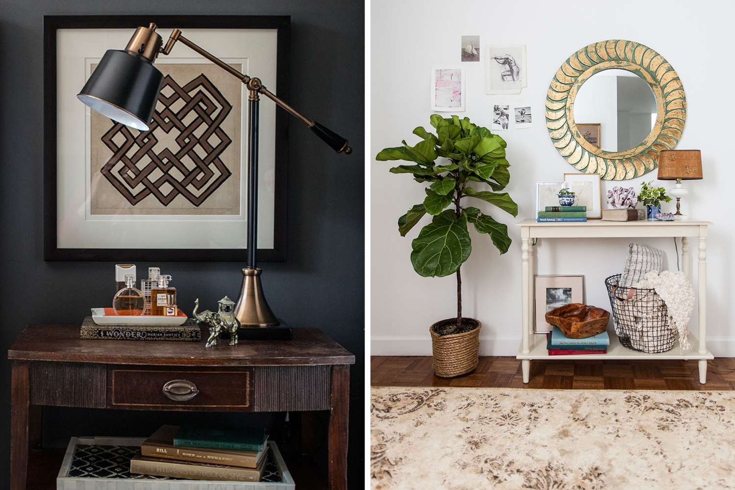 Scores galore from a HomeGoods excursion fill the redecorated rooms of Lonny associate editor Mackenzie Schmidt, left, and editorial coordinator Sarah Jean Shelton. Additional prop styling by Kaylei McGaw.