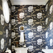 Tell us about the gorgeous wallpaper in the powder room.