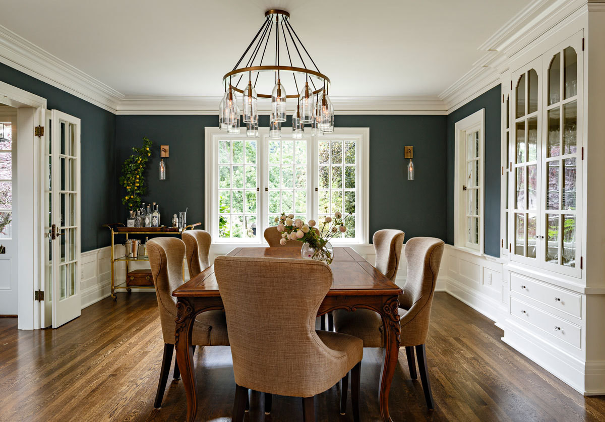 A dining room designed by Jessica Helgerson in Portland, Oregon.