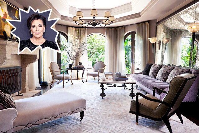 celebrity living room kris jenner the coolest living rooms lonny 11190
