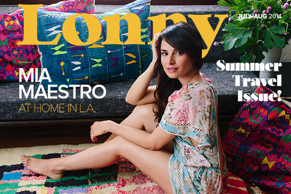 It's the summer travel issue—starring actress-musician Mia Maestro, a Buenos Aires native now making her home in California. Escape with us to Italy, France, India, Scandinavia, and more!