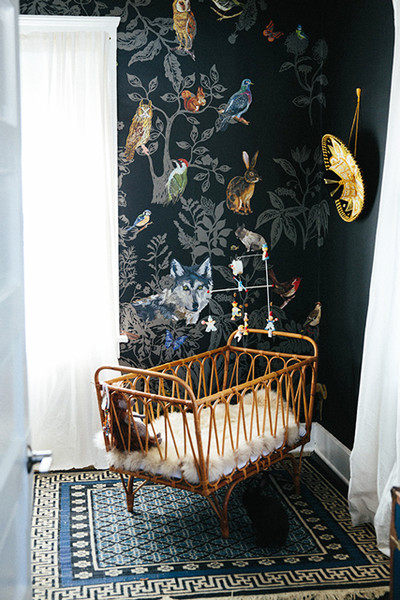 Wallpaper Defines A Nursery Corner