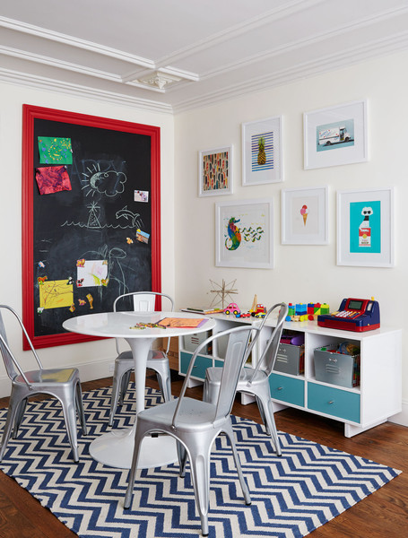 The playroom in a Brooklyn townhouse decorated by Nicole Gibbons.