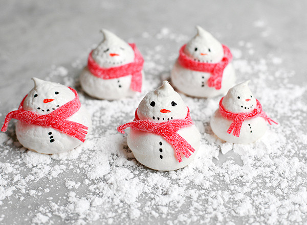 Holiday Baking Snowman Meringue Cookies Entertaining Idea Of The